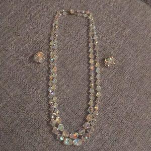Jewelry - VINTAGE CRYSTAL SET